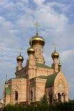 Goloseevo kloster i Kiev Royaltyfri Fotografi