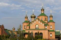 Goloseevo kloster i Kiev royaltyfria foton