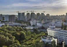 Golosievsky区基辅,使城市的全景环境美化 免版税图库摄影