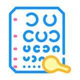 Golovin table for eye examination color icon vector illustration