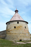 Golovina tower of the fortress at Shlisselburg city Royalty Free Stock Photos
