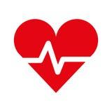 Golpe de corazón de la cardiología libre illustration