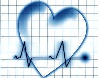 Golpe de corazón en un monitor libre illustration
