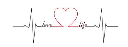 Golpe de corazón de la vida del amor Foto de archivo