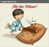 Golpe de la almohada stock de ilustración
