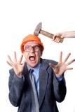 Golpe del martillo Imagen de archivo libre de regalías