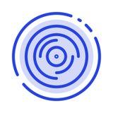 Golpe, DJ, haciendo juegos malabares, rasguñando, línea de puntos azul sana línea icono libre illustration