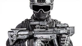 GOLPE do agente da polícia dos ops das especs. Foto de Stock