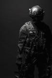GOLPE do agente da polícia dos ops das especs. fotos de stock royalty free