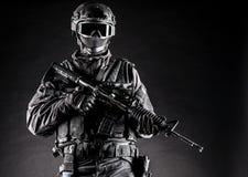 GOLPE do agente da polícia dos ops das especs. Imagem de Stock Royalty Free