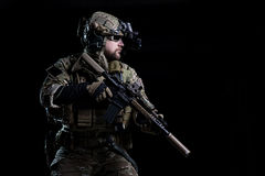GOLPE do soldado dos ops das especs. Foto de Stock