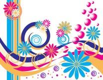 Golpe floral de la burbuja Ilustración del Vector