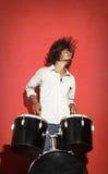 Golpe principal do baterista novo imagens de stock