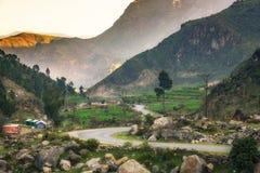Golpe violento Paquistán de Karakarr Fotos de archivo