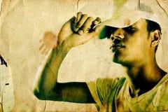 Golpeador de Grunge Fotografía de archivo libre de regalías