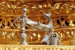 Golpeador de plata, semana santa en Triana, Sevilla, España Fotos de archivo
