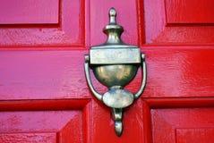 Golpeador de puerta de cobre amarillo Fotografía de archivo