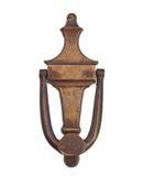 Golpeador de puerta de cobre amarillo del vintage Fotografía de archivo