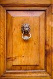 Golpeador de puerta del león Imagenes de archivo
