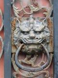 Golpeador de puerta oriental del vintage Fotografía de archivo
