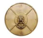 Golpeador de puerta principal del león Imágenes de archivo libres de regalías