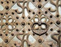 Golpeador de una puerta del St Anna Church Fotografía de archivo