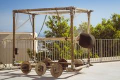 Golpear RAM roda sobre dentro a fortaleza de Santa Barbara Fotografia de Stock