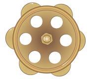 Golpecito de agua de bronce viejo ilustración del vector