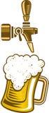 Golpecito de la cerveza y un vidrio de cerveza Fotografía de archivo libre de regalías