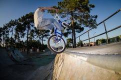 Golpecito del truco de la bici de BMX Fotos de archivo libres de regalías