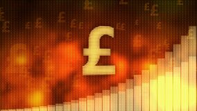 Golpee el levantamiento en el fondo rojo, valor de los aumentos de la moneda, crisis financiera evitada libre illustration