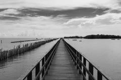 Golpee la opinión Bangkok, Tailandia del mar de Khun Thian Fotografía de archivo