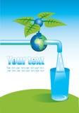 Golpee ligeramente con el agua potable stock de ilustración
