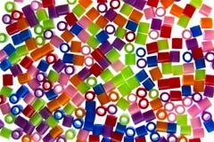 Golpes coloridos del plástico Fotografía de archivo libre de regalías