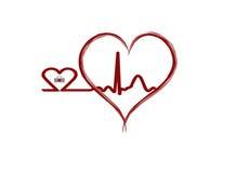 Golpes de corazón Stock de ilustración