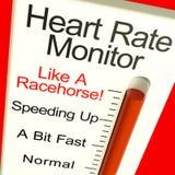 Golpes muy rápidos de la demostración del monitor del ritmo cardíaco aprisa ilustración del vector