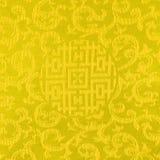 Golpeteo tailandés de la tela del oro Imágenes de archivo libres de regalías
