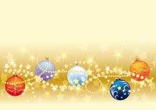 Gols Christmas background Royalty Free Stock Photography