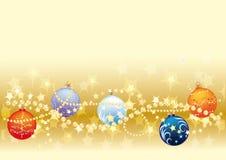 Gols Weihnachtshintergrund Lizenzfreie Stockfotografie