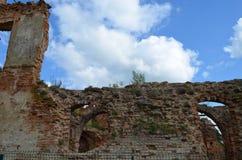 Golshanskiy castle ruins Royalty Free Stock Photography