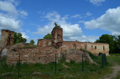 Golshanskiy castle ruins Royalty Free Stock Photos