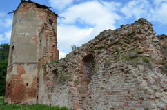 Golshanskiy castle ruins Royalty Free Stock Images