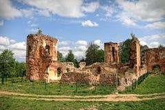 Golshany城堡废墟在白俄罗斯 图库摄影