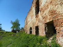 Golshany castle in the Republic of Belarus. Stock Photo