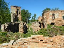 Golshany castle in the Republic of Belarus. Royalty Free Stock Photography