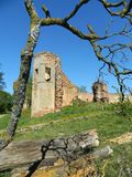 Golshany castle in the Republic of Belarus. Stock Image