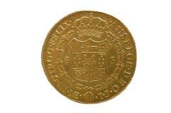 Goltmuntstuk, gouden muntstuk van España 1788, ochoescudo's Royalty-vrije Stock Foto