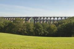 Goltzsch Viaduct. Railway bridge in Saxony, Germany - Worlds largest brick bridge Royalty Free Stock Images
