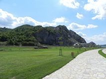 Golubac forteca, Serbia, Dunya_Ra obraz royalty free