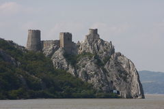 Golubac Fortress on the Danube River, Serbia Stock Photos